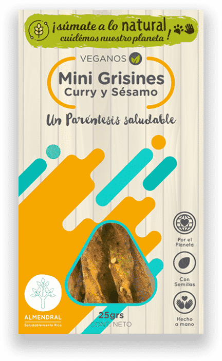 Mini Grisines de Curry y Sésamo