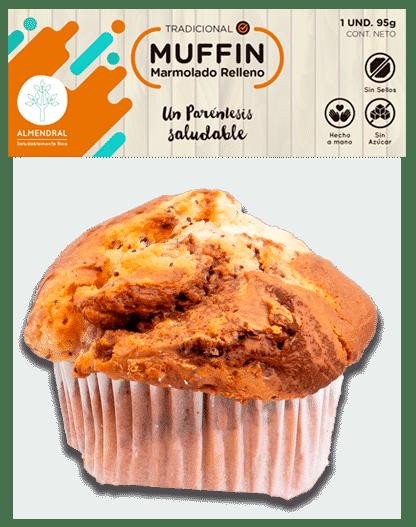 Muffin marmolado relleno
