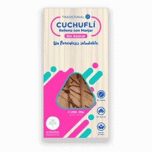 cuchuflí relleno con manjar